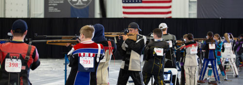 Shooters ages 12-20 competed in two shooting events.