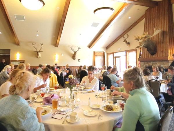 Participants enjoying a meal.