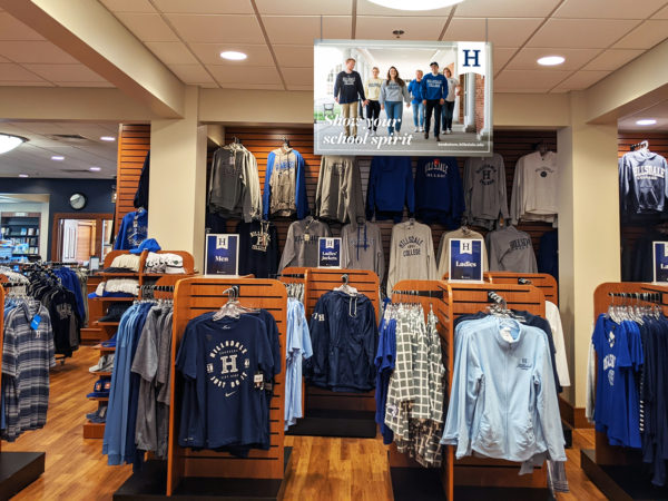 An interior shot of the Hillsdale College Bookstore